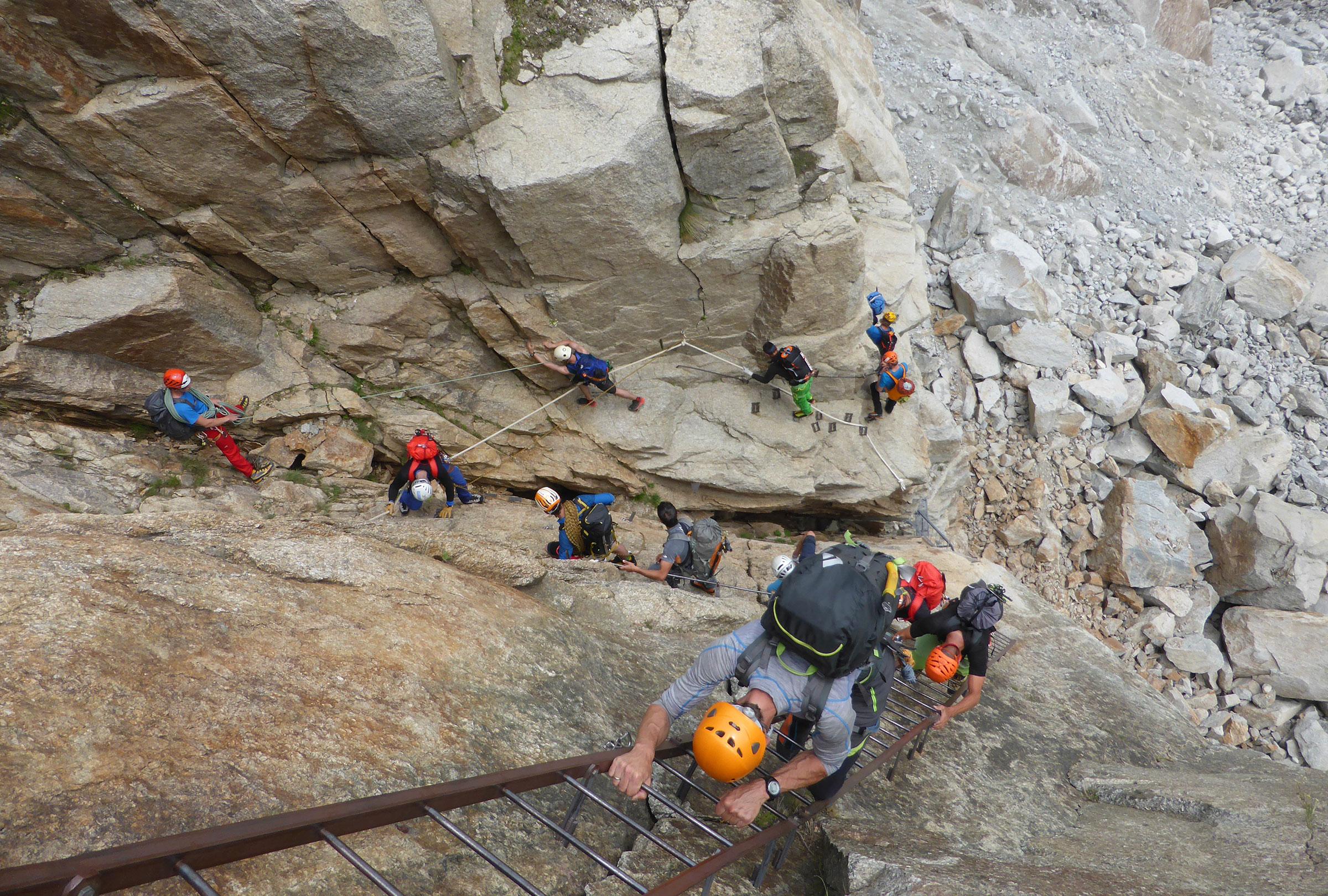 Klettersteig Huterlaner : Klettersteige zillertal christoph garber bergfÜhrer